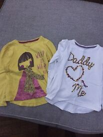 Mothercare girls long sleeve tops 3-4