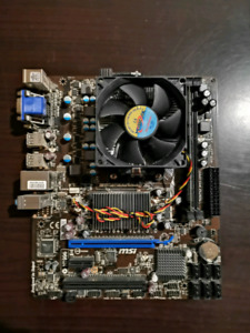 Motherboard w/ CPU and RAM