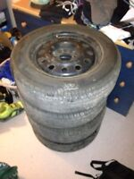 Tires on rims brand new (2 weeks old)