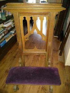 Antique Handmade Archbishop's Prayer Bench