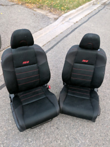 06-12 Honda Civic SI 2dr Coupe Front Manual Seats Black Cloth