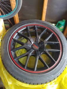 """17"""" touren rims + tires for sale"""