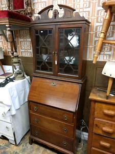 Antique Secretarial Desk Hutch