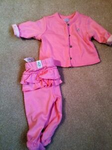 Girls 2 piece outfit - up to 7 lbs - new with tags