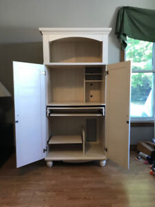 Matching Cabinet & Desk with doors