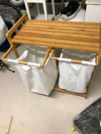 SOLD Bamboo Laundry Basket