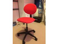 Small red IKEA office chair Suitable for teenager