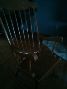 25 year old wooden rocking chair