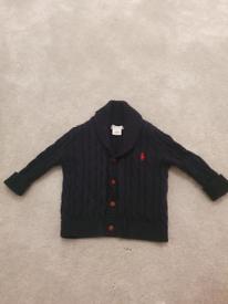 Ralph Lauren baby unisex cardigan in navy in an excellent condition