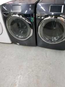 SAMSUNG FRONT LOAD STEAM WASHER & DRYER