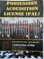 PAL Firearms Non-restricted & restricted course (FAC)