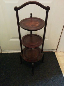 Antique three tier table