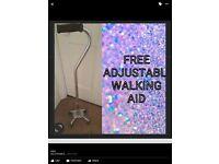 FREE ADJUSTABLE WALKING AID