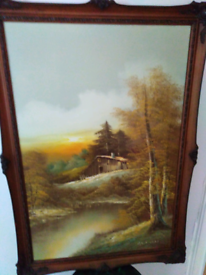 Beautiful country picture in a FRAME