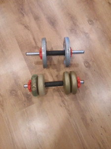 Standard 1 inch Weights- 2 -10 pounds and 4- 1 1/2 pounds