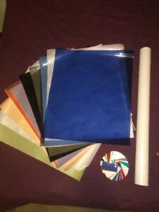 assorted lot of 12x24 sheets of rosco lighting gels