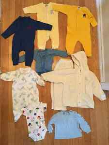 LOT OF BABY BOY CLOTHES SIZING 0-6 MONTHS