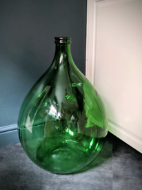 Vintage Italian Villiani Green Glass Huge Carboy Demijohn Wine Bottle