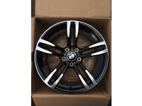 "BRAND NEW BMW 18"" M3 M4 TECH STYLE BLACK 437M M3 M3 ALLOY WHEELS-E90 E92 E93 3 SERIES 4 SERIES"