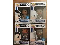 White lantern Wonder Woman flash batman and superman funko pops