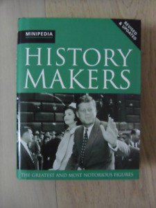HISTORY MAKERS-The Greatest And Most Notorious Figures Book.