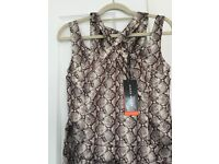 Karen Millen Bronze and Silver Dress, Size 8