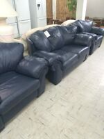 Full leather sofa & chairs UC7963
