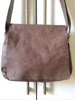 M0851 leather ash postman messenger bag new without tags