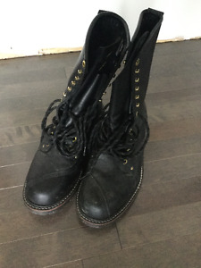 Men's Leather boots size 10 1/2. LINESMAN(never worn)