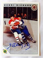 Henri Richard Montreal Canadians autographed Card !