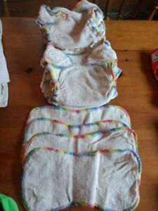 AMP Rainbow Hemp fitted diapers Size Large