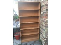 Large wooden bookshelf
