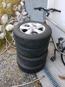 195/65R15  4rims with Winter tire on