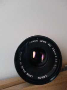 Canon FD 50mm f / 1.8 ,135mm f / 3.5 lens Manual Focus $60 Each
