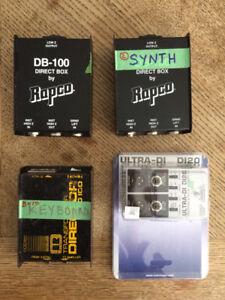 A Collection of 4 Direct Boxes (DI's) in Good Condition