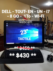 ORDINATEUR DELL - ALL- IN- ONE - i7- 8 GO - 1 To + WI-FI+ WEBCAM