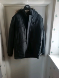 New parka style coat LARGE half price
