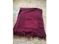 Damart purple pocket scarf