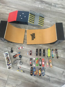 Lot Tech-Deck (planches & rampes)