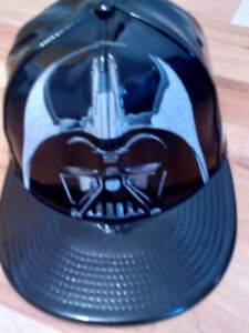 New Era Darth Vader Leather Snapback Hat Star Wars Official Cap