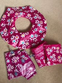 Girls armbands and swimming ring set