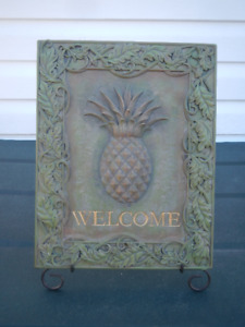 Welcome plaque