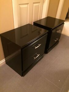 Pair of black night stands / side tables
