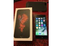 iPhone 6s Unlocked space grey 16gb 10 months warranty case