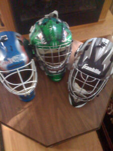 Hockey goal helmets and stuff