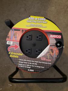 Electric Cord Quad Plug Reel