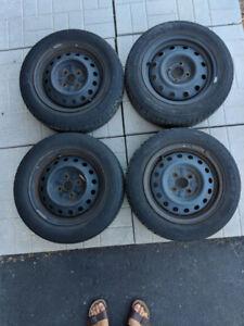 Hankook Tires, set of 4 on steel wheels