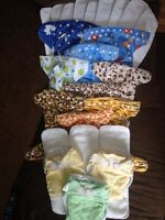 Mixed Lot of 12 Cloth Diapers
