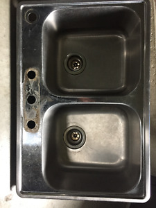 "Blanco 31.5"" Stainless Steel Kitchen Sink and Faucet"