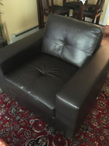 BROWN COUCH AND CHAIR FOR FREE!